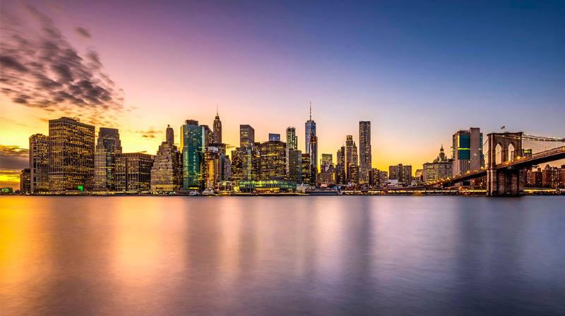 закат в Нью Йорке