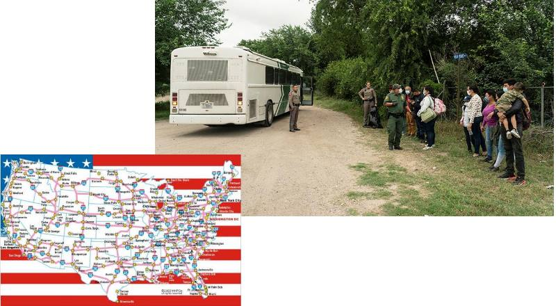 автобус с беженцами