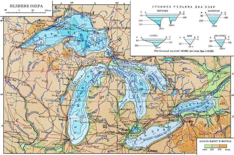 карта озер