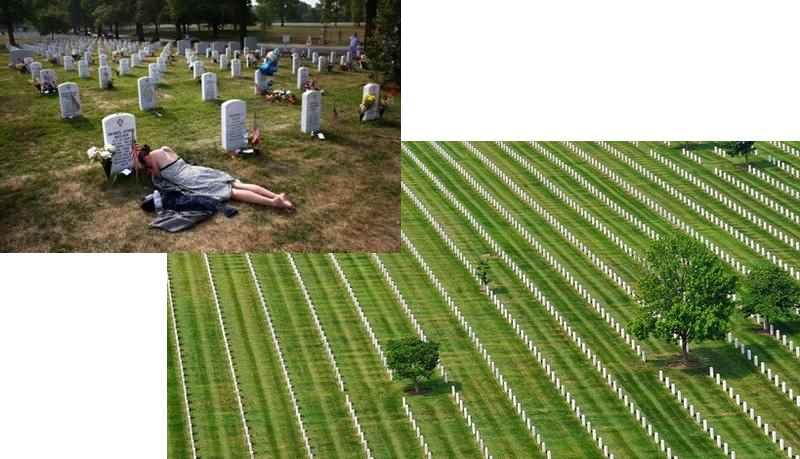 страдающая девушка на могиле
