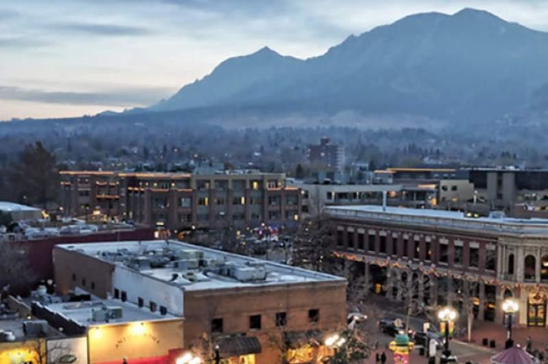 вид на город и горы