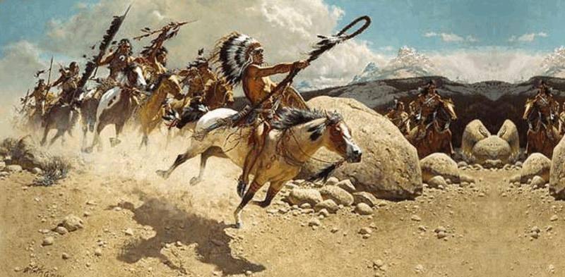 смелое и воинственное индейское племя,
