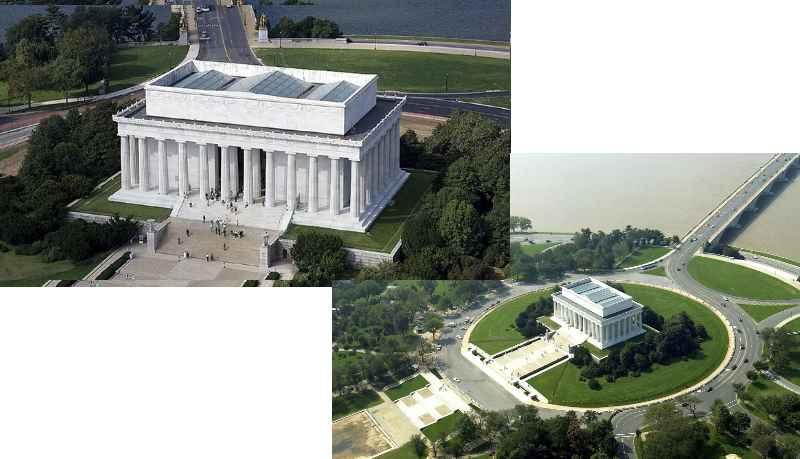 Мемориал Линкольну размещается в центре Вашингтона