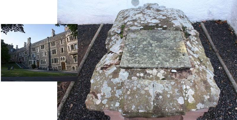 могила на территории университета